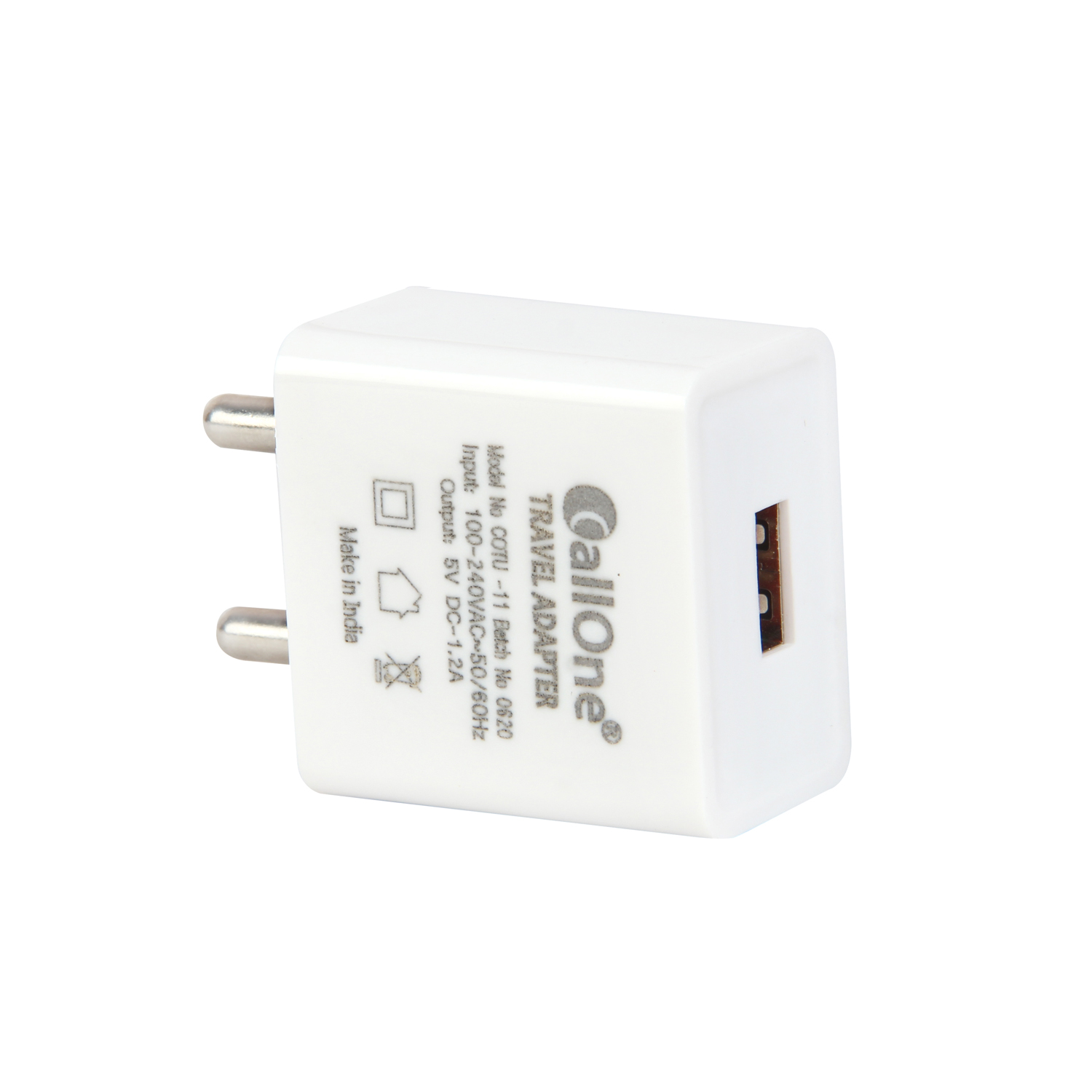 CallOne Trandy Fast Travel Charger 5V-1.2Amp With Micro USB Cable