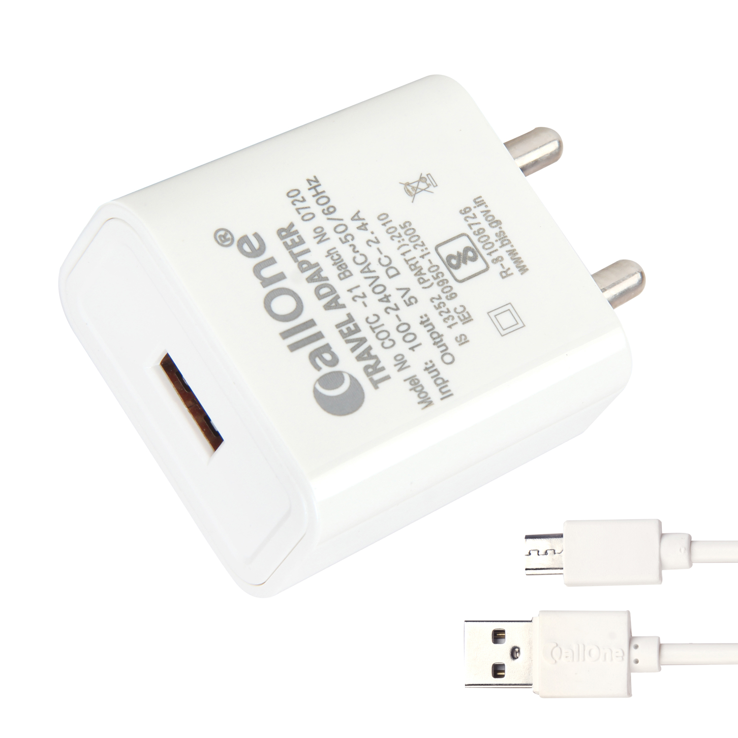 CallOne Trandy Super Fast 5V-2.4 Amp Travel Charger With Micro USB Cable