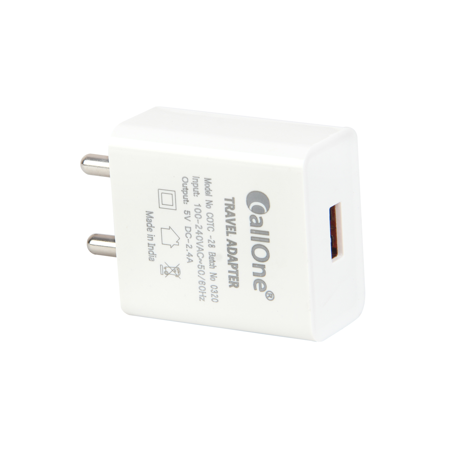 Callone Fast Travel Charger 2.4Amp with Micro Usb Cable