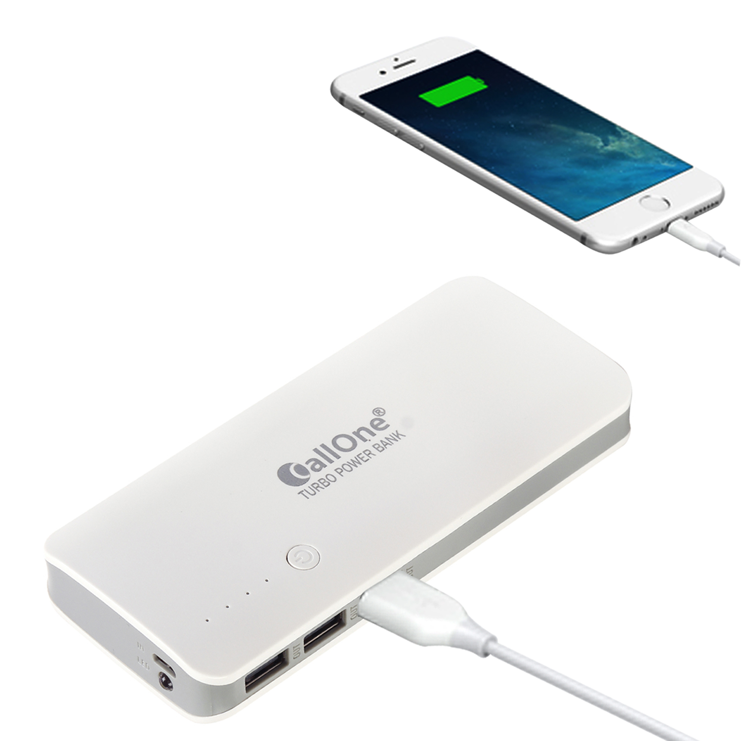 CallOne Noddy 3USB Port with Torch Light 10000mAhFast Charging Power Bank