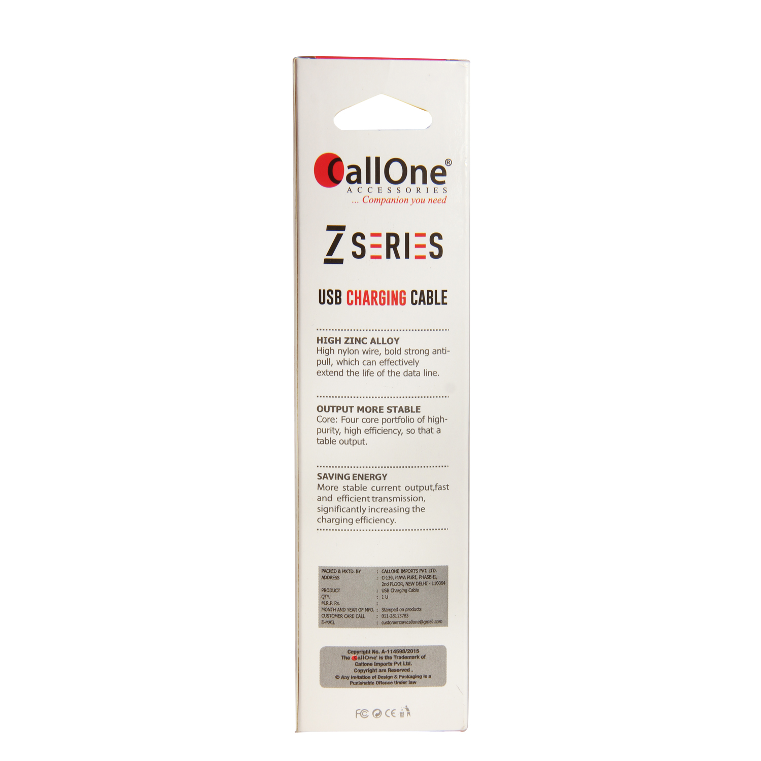 Callone Z-series Nylon  Fast Data & Charging Micro USB Round Cable 2Amp.