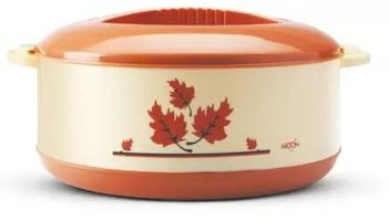Milton Orchid Insulated Casserole, 2000ml, Brown Thermoware Casserole (2000 ml) - Brown