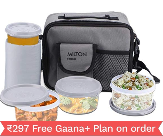 Milton Meal Combi Plastic Lunch Box Set, Grey