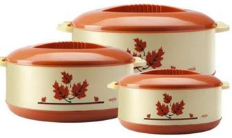 Milton Orchid Junior Set Pack of 3 Thermoware Casserole Set  (450 ml, 790 ml, 1260 ml)