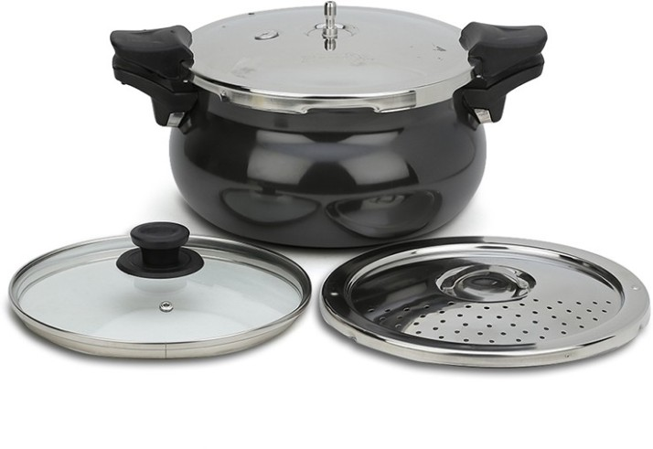 Pigeon by stovekraft All In One Super Cooker 5 L Induction Bottom Pressure Cooker�(Aluminium)
