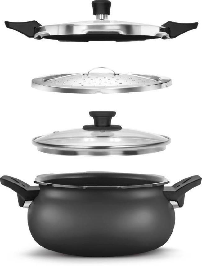Pigeon by stovekraft All In One Super Cooker 5 L Induction Bottom Pressure Cooker�(Hard Anodized)