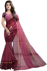 Sharda Creation Maroon Colour Polycotton silk sare