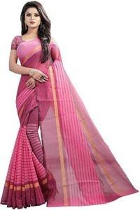 Sharda Creation Pink Colour Polycotton silk sare