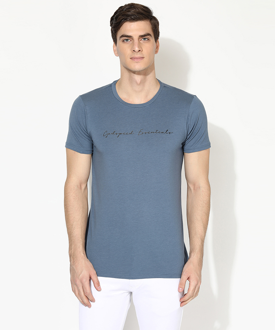 V2 Kart Men Half Sleeves Round Neck T-Shirt (Aqua)