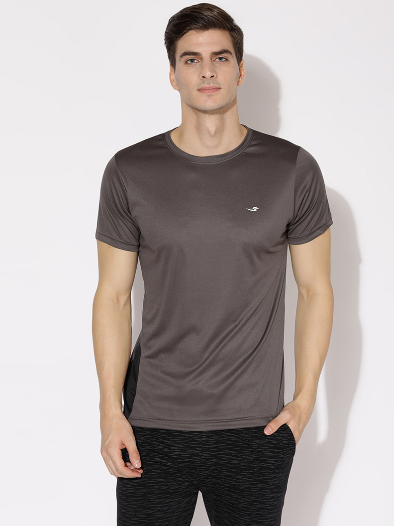 V2 Kart Men Drifit Half Sleeves T-Shirt (Dark Grey)