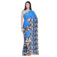 Triveni Saree Blue Colour Faux Georgette Saree With Blouse