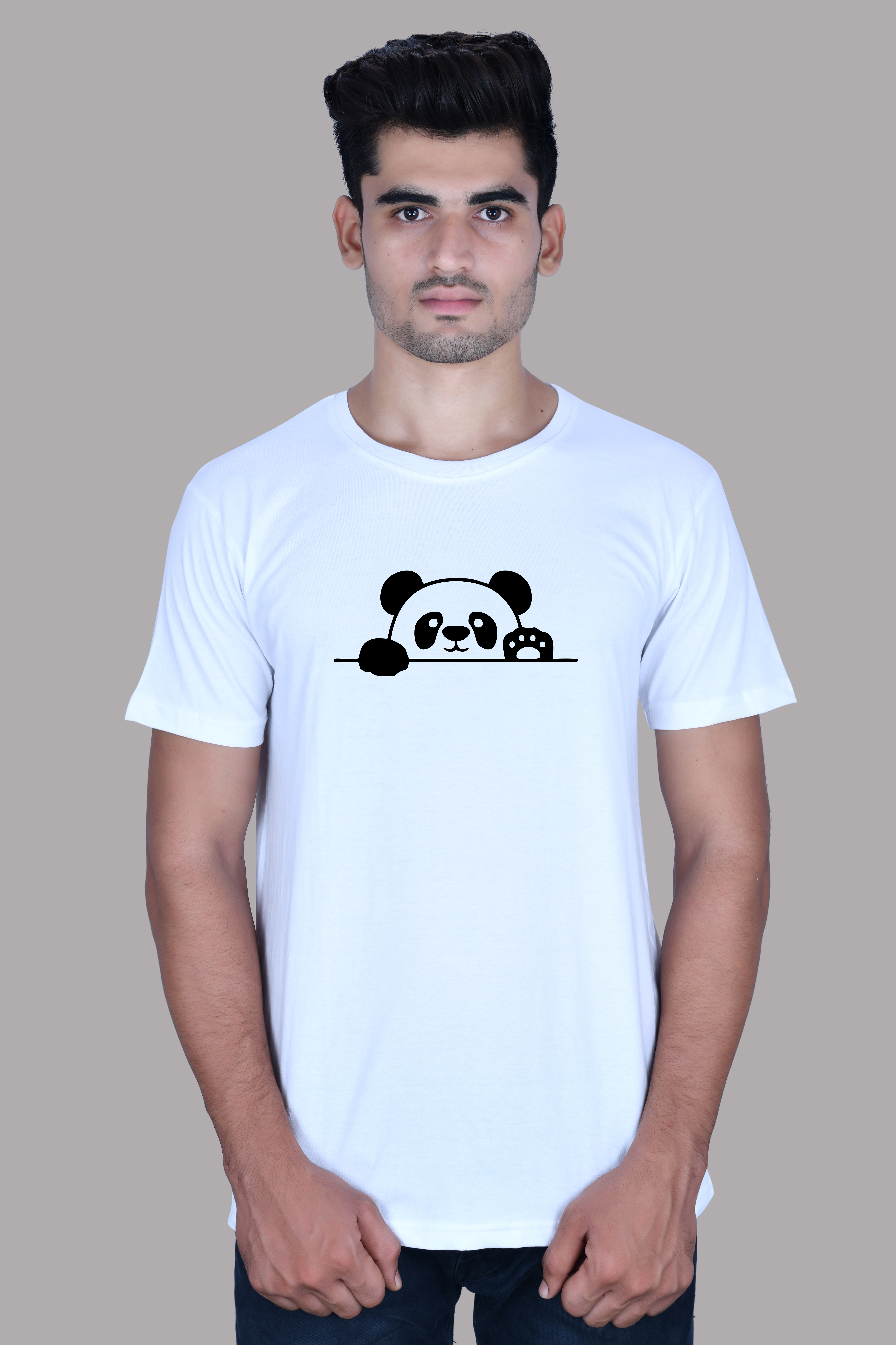 TBB The Blue Beast Roundneck Printed Cotton T-Shirt White