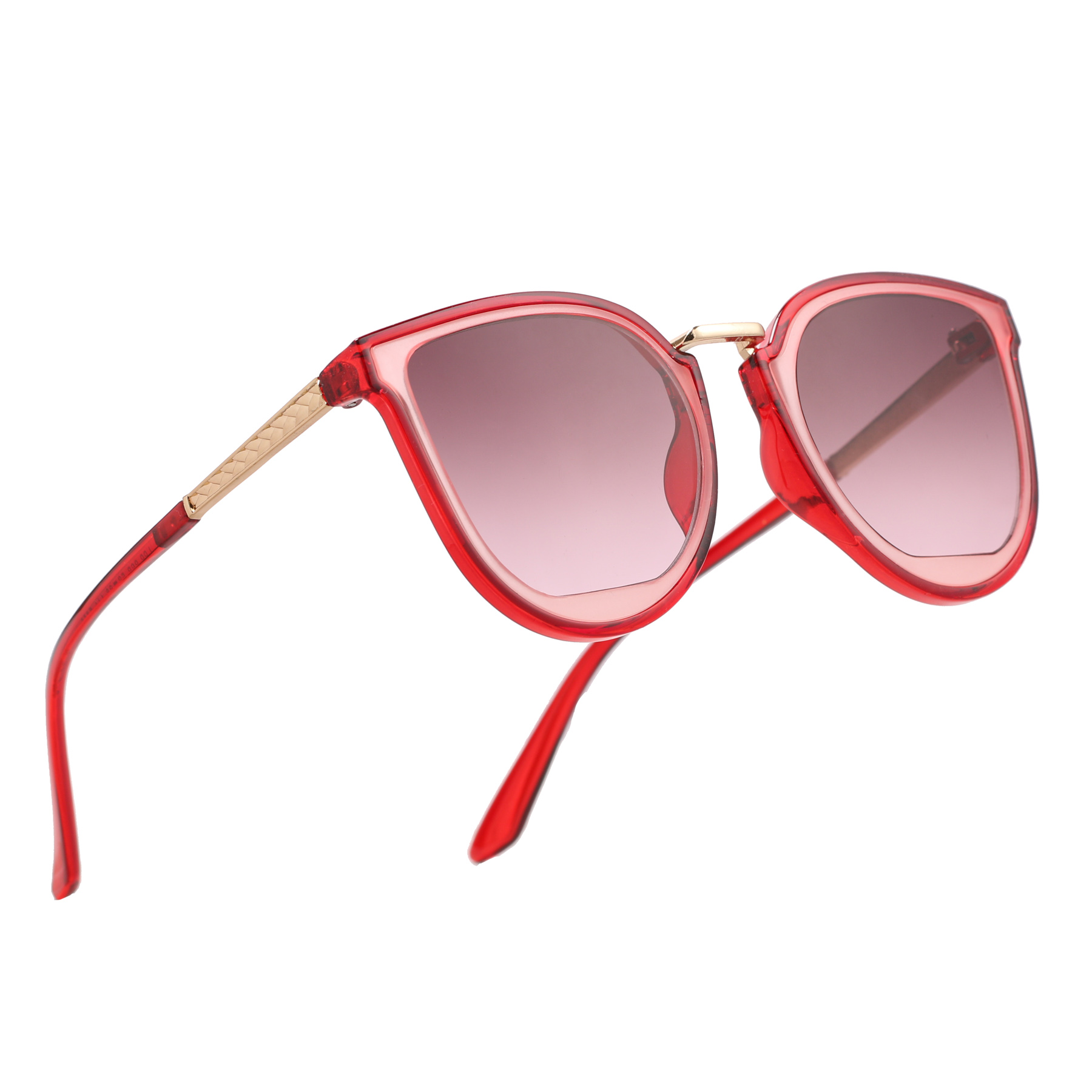 Royal Son Red Polycarbonate Cat-Eye Sunglasses For Men