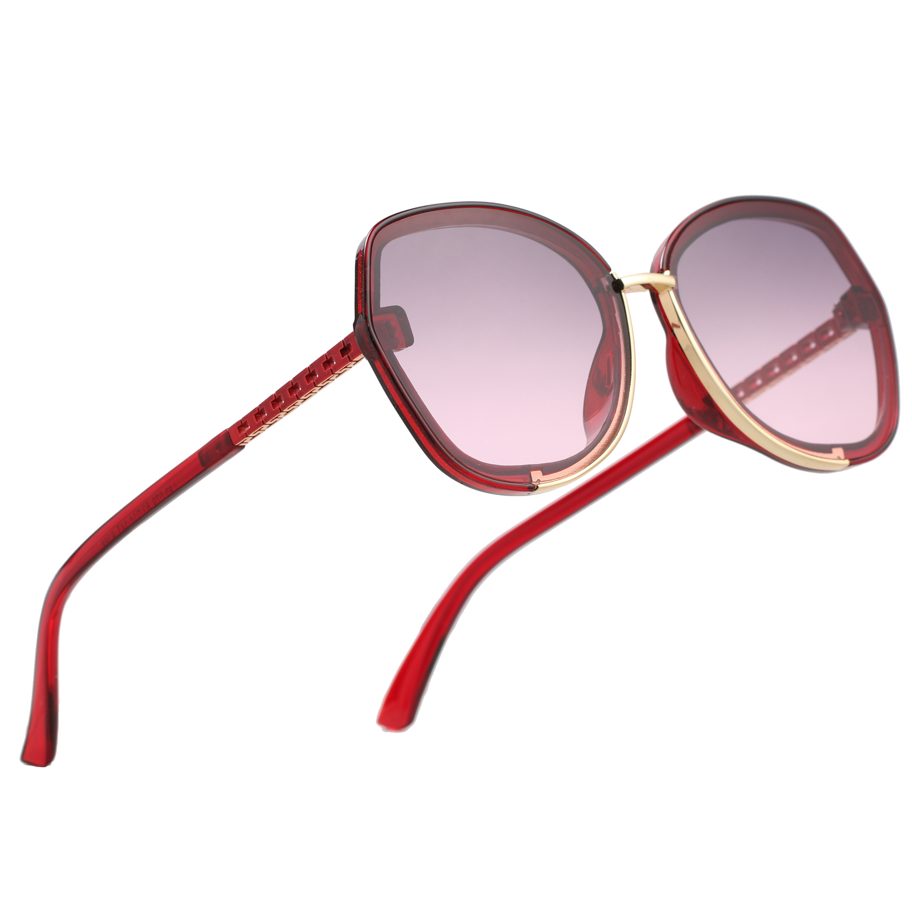 Royal Son Red Polycarbonate Butterfly Fame Sunglasses For Men