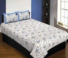 Pure Cotton 240 TC Single Bedsheet in reddish floral pattern taxable By Jaipur Fabric