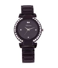 Timebre Women Black Diamond Party Watch  (TMLXBLK180)