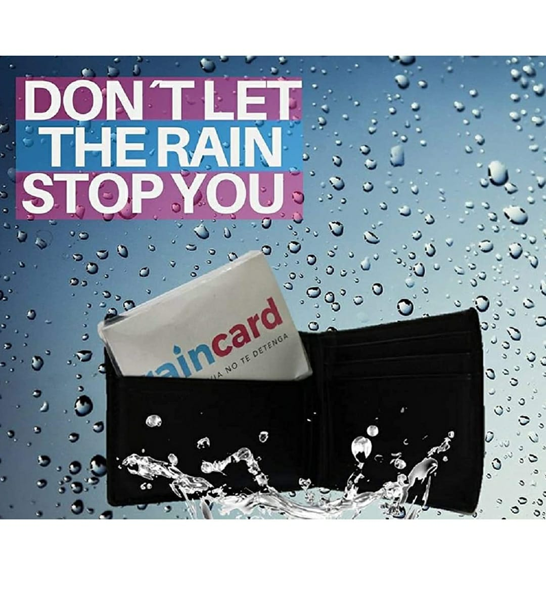 Pack 6, Raincard Unisex Plastic The First Credit Card Sized Raincoat (Multicolour, Free Size)