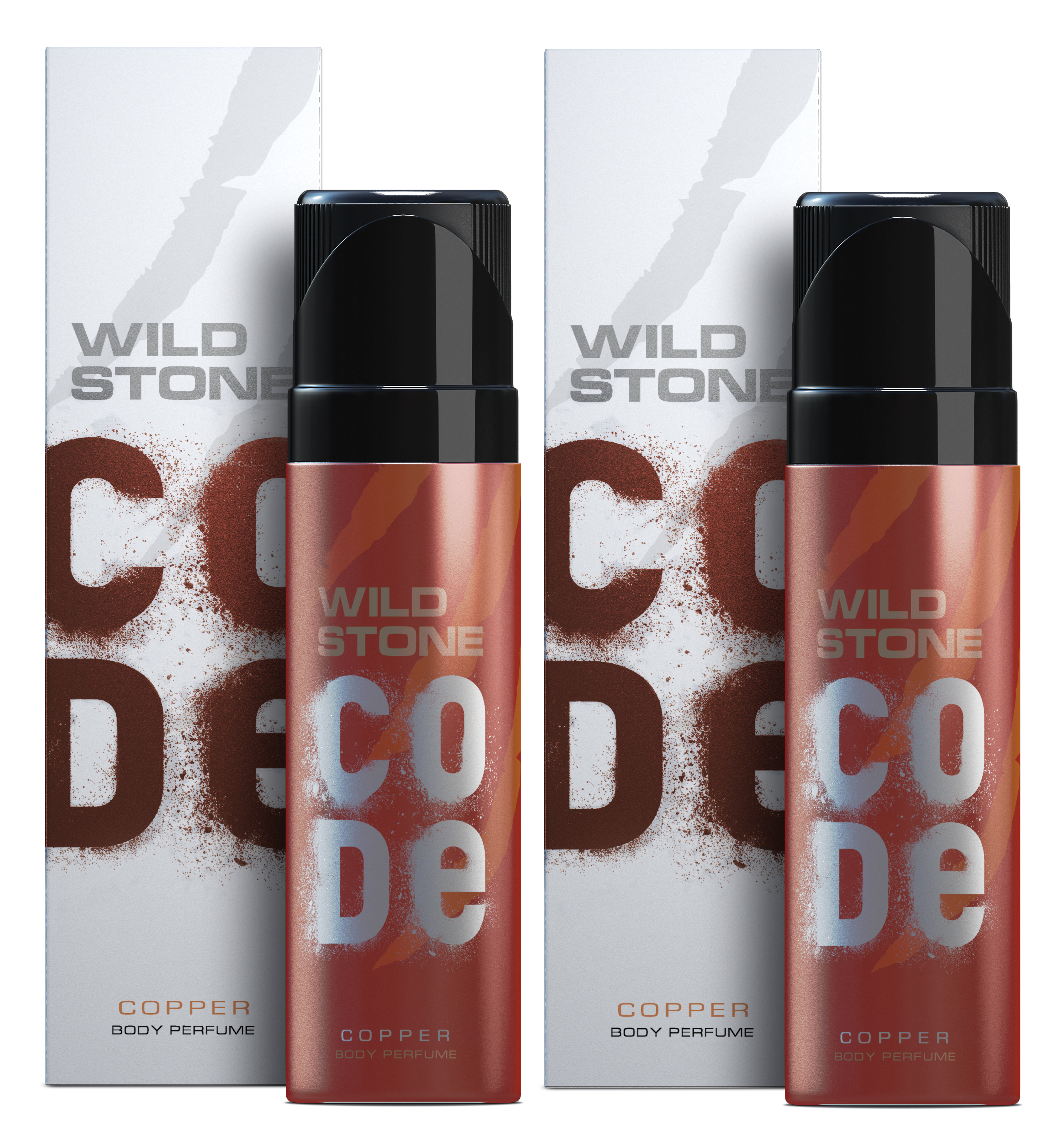 Wild Stone Code Copper Body Perfume - 120 ml each (Pack of 2)