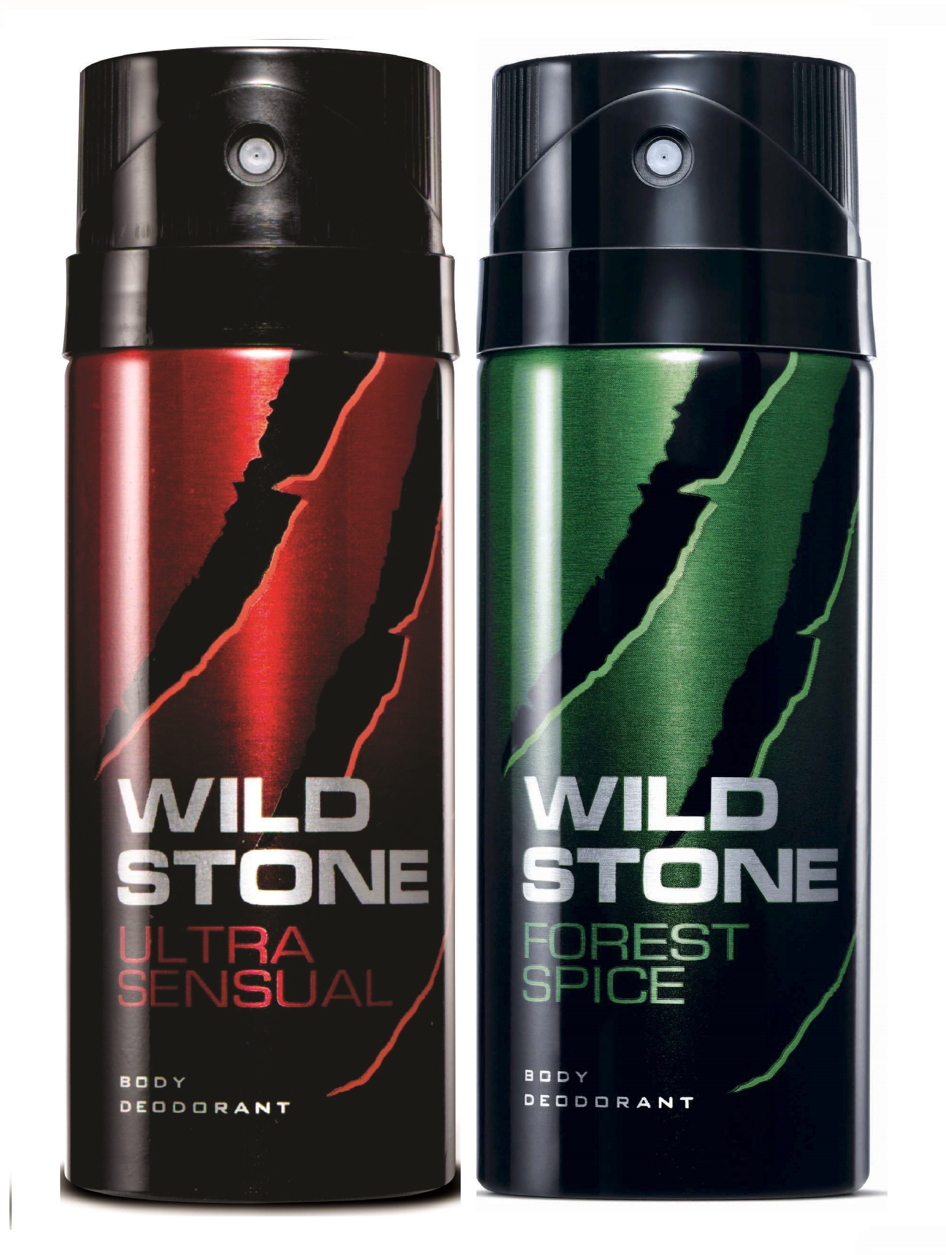 Wild Stone Ultra Sensual & Forest Spice Body Deo - 150 ml each (Pack of 2)
