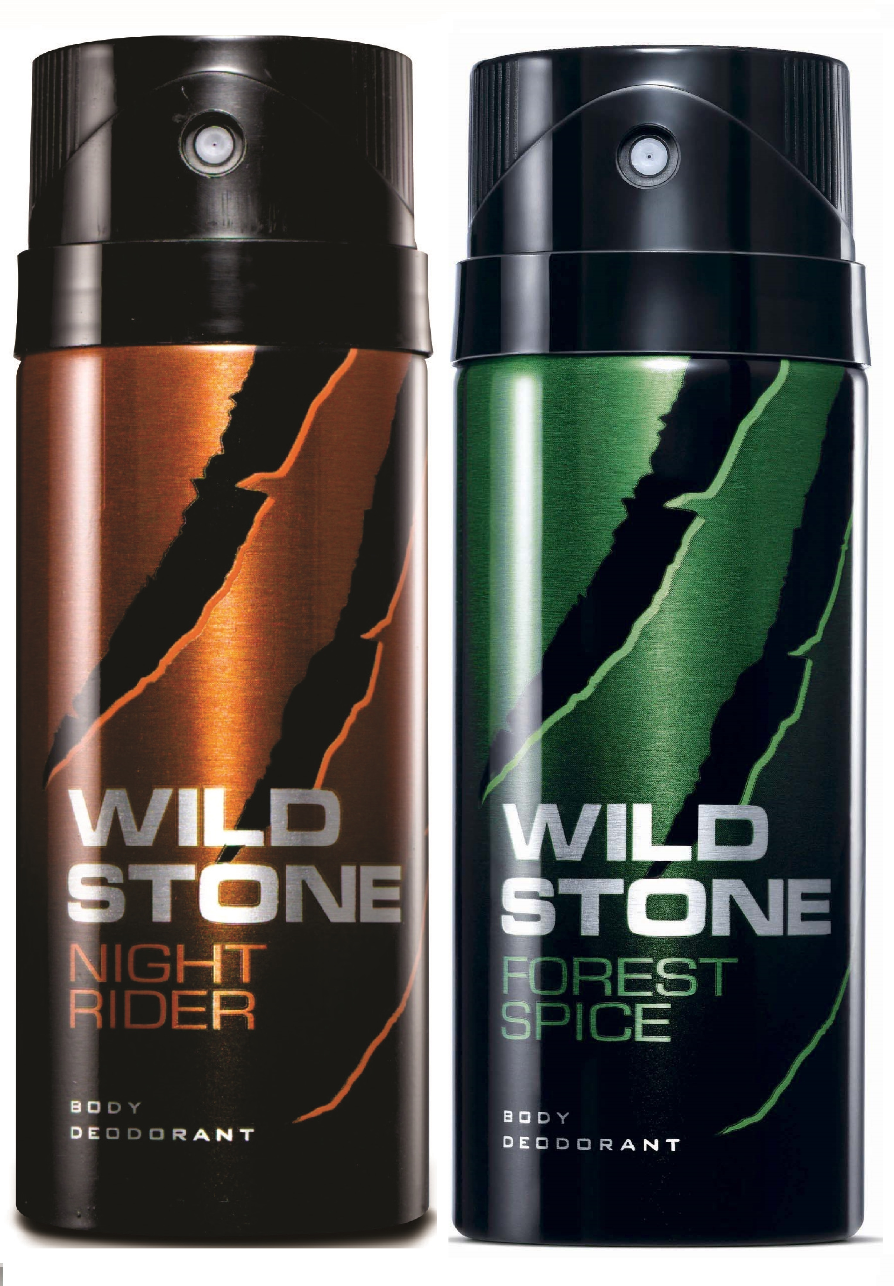Wild Stone Forest Spice & Night Rider Body Deo - 150 ml each (Pack of 2)