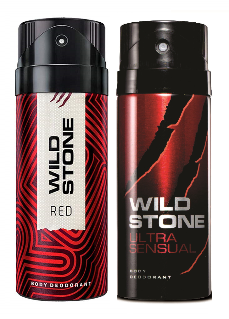 Wild Stone Red & Ultra Sensual Body Deo - 150 ml each (Pack of 2)