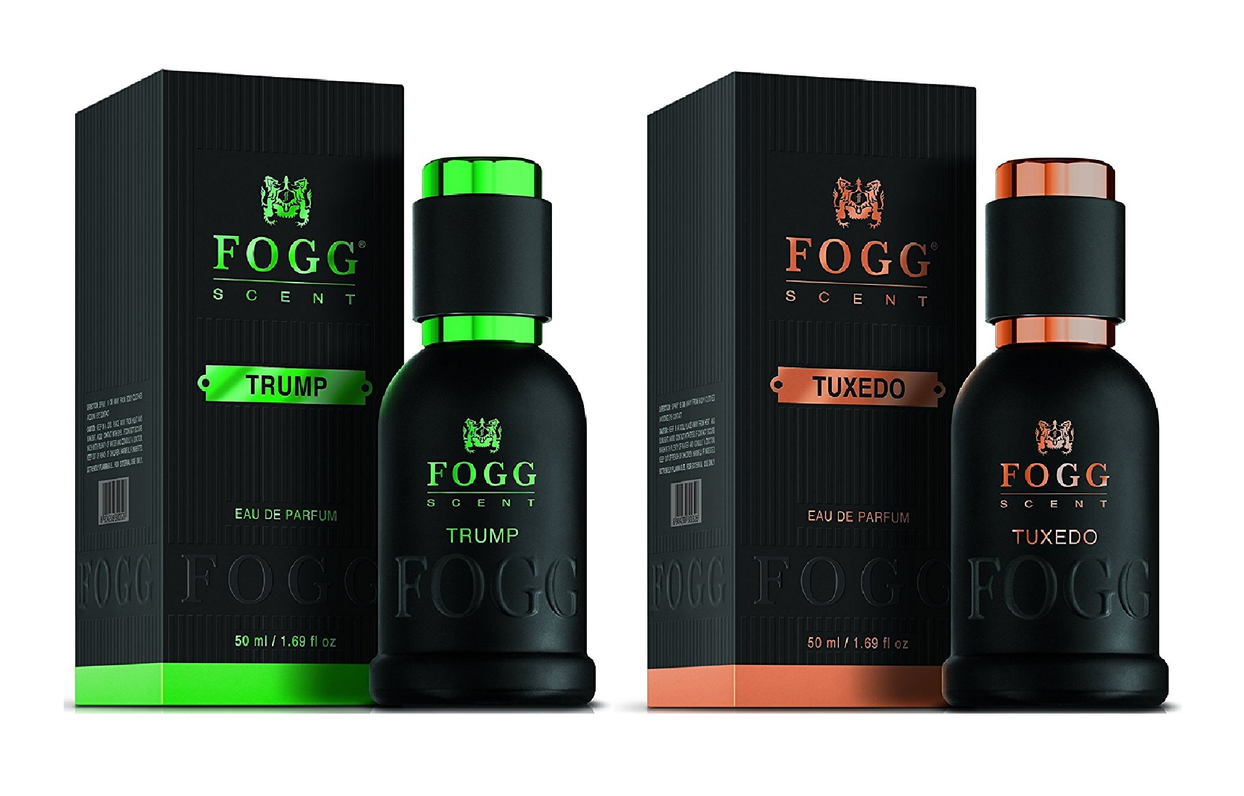 Fogg Scent (Trump & Tuxedo) EDP - 50 ml each (Pack of 2)