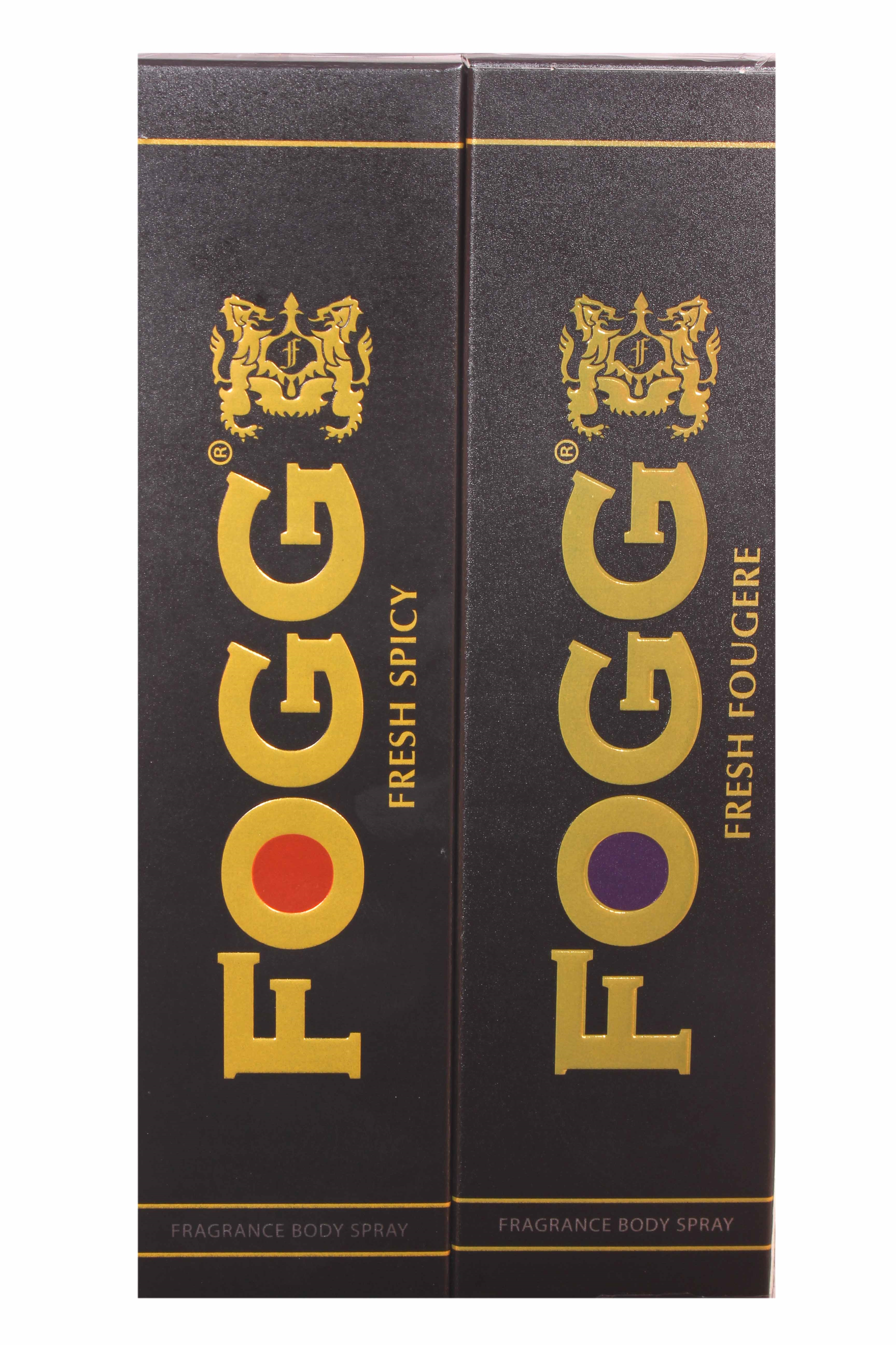 Fogg Combo Pack Fresh (Spicy + Fougere) Fragrance Body Spray - 150 ml each  (Pack of 2)