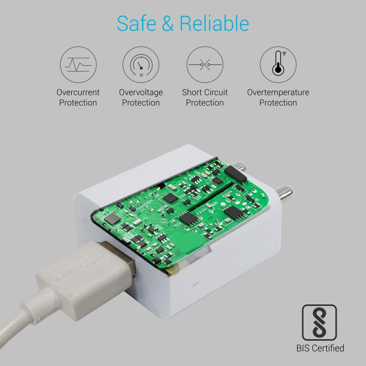 Portronics Adapto 442 POR 442 2.0A Charger with single USB Ports with 6 Months Warranty (White)