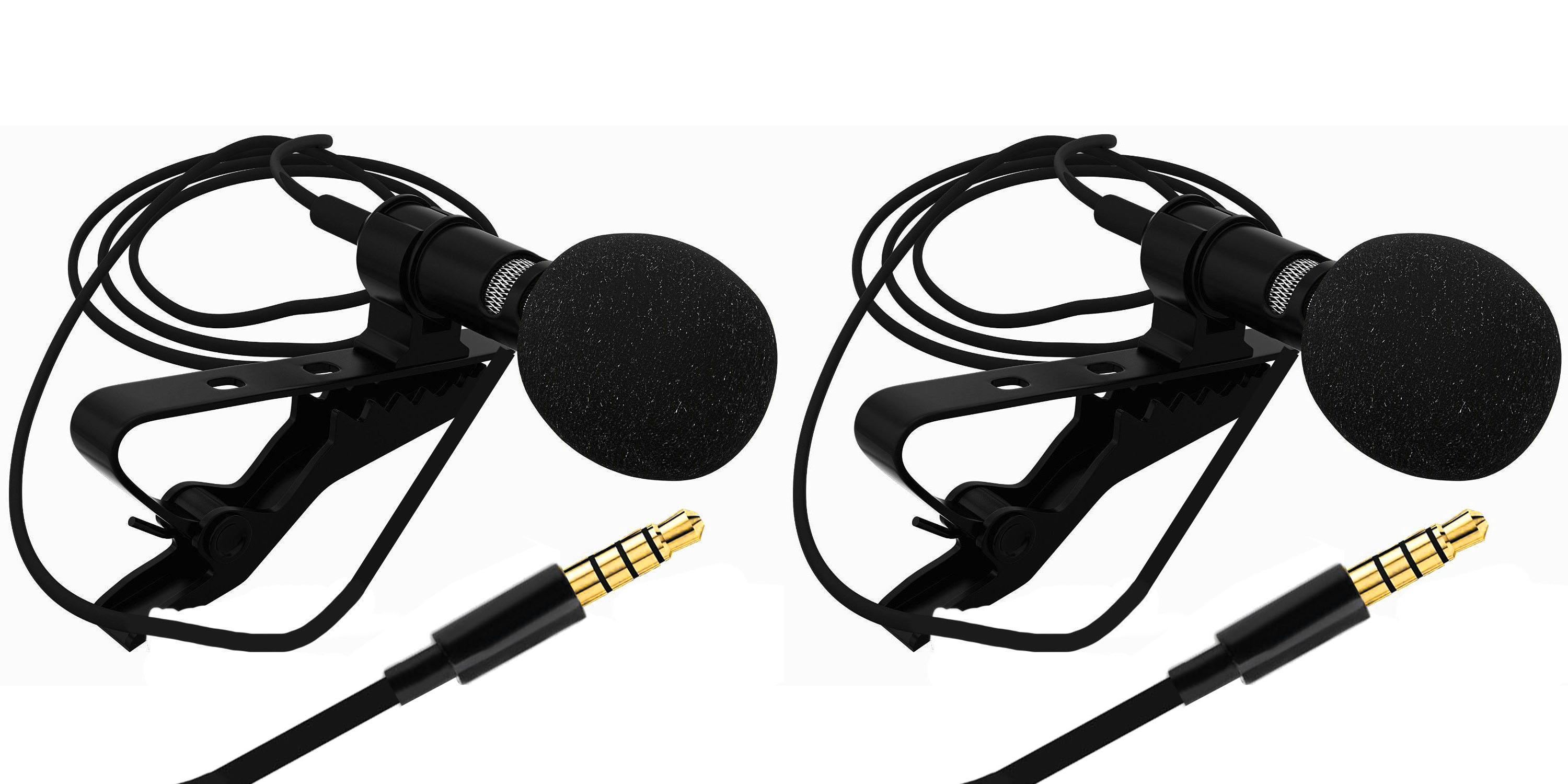 Sami Collar MIC Multi Purpose Lapel mic, 1.5 Meter Cable Length Suitable for I Phones, Android Phones, Computers & Wireless Receivers.-Black Pack of 2