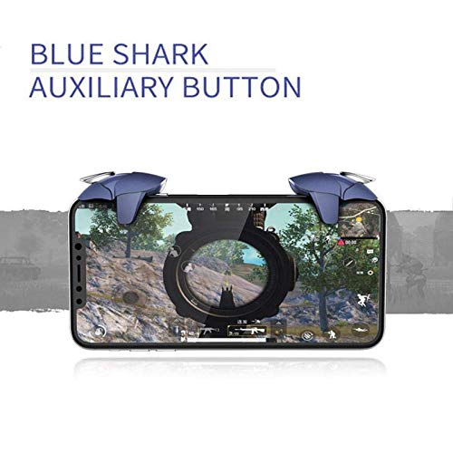 Sami Finger Sleeve Mobile Game Controller Touch Screen Sleeve with Blue Shark Mobile Pubg Trigger- Controller
