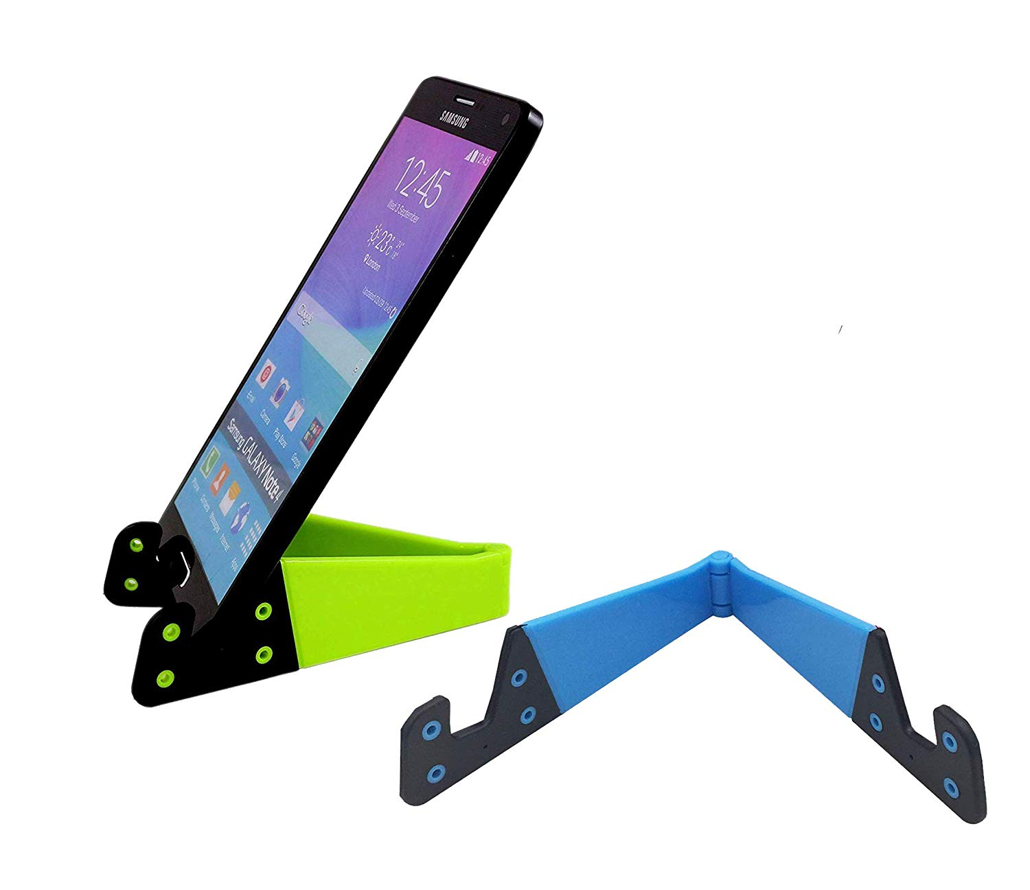 Universal Foldable V Shape Stand (Pack of 2) Mobile/Tablet Stand (Multicolor )