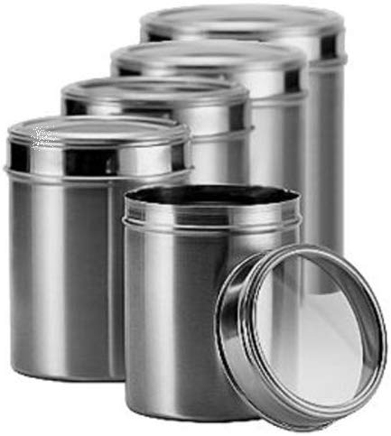 Dynore Set of 8 Stainless Steel See Through Combo Multi-Utility Container Set