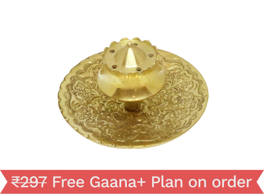 Pilgrimaide Brass Agarbathi Stand Plate 141610020