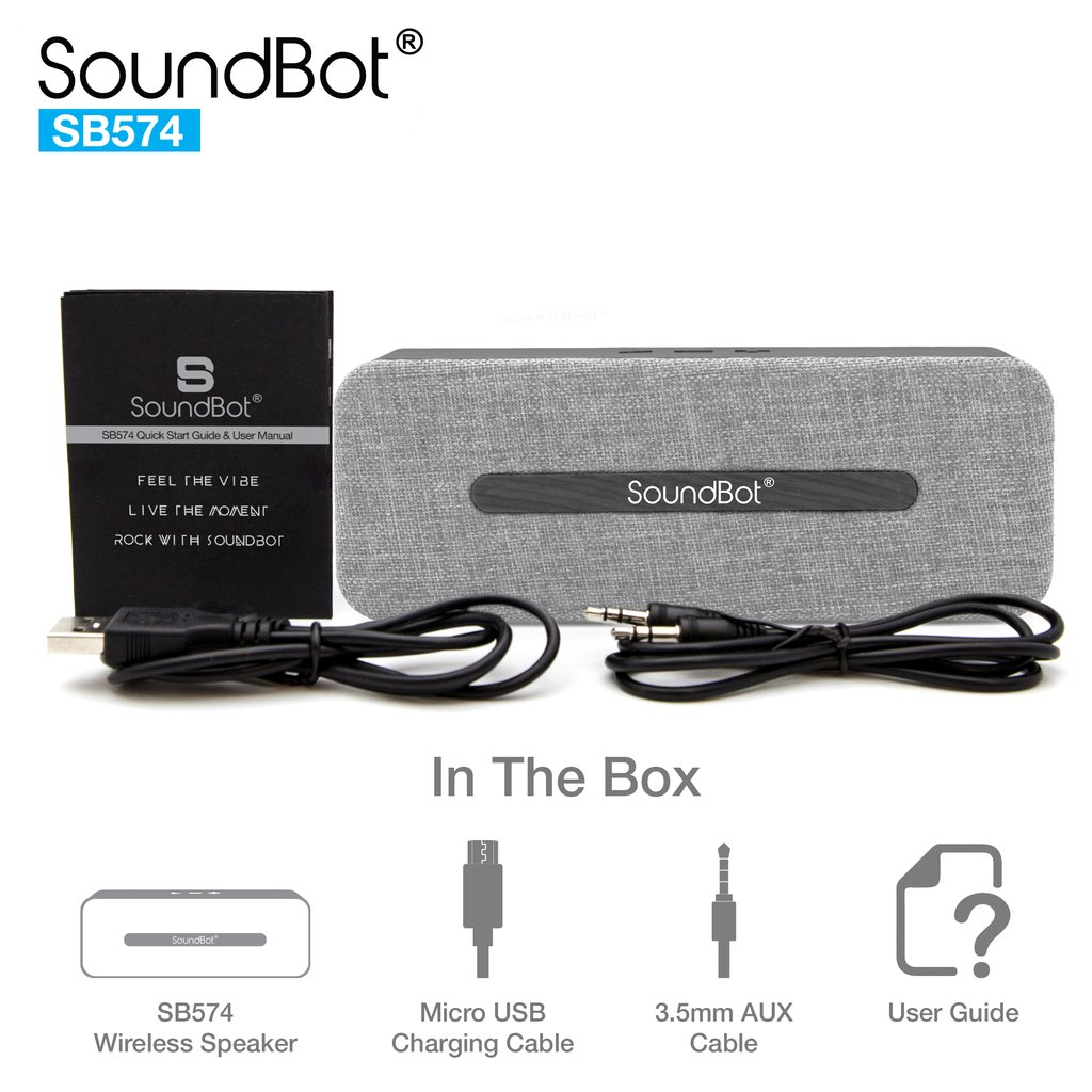SoundBot SB574 10W HD Wireless Bluetooth Speaker - Grey