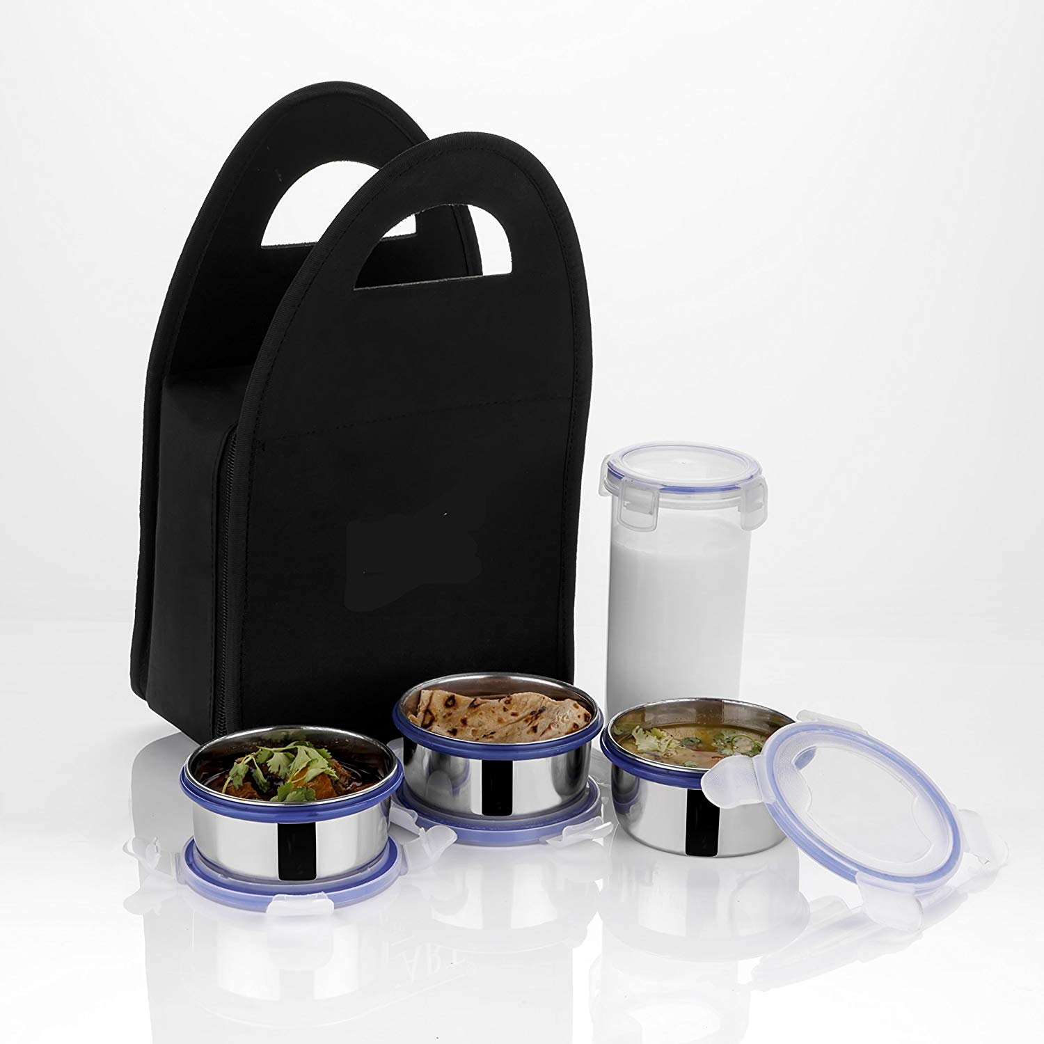 Analog kitchenware Multicolour Stainless Steel Lunch Box