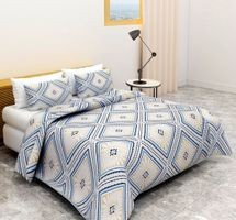 BSB HOMECotton Feels Like Glace Cotton Double Bed Bedsheet with 2 Pillow Covers Size-90x100 (DB-01-A1)