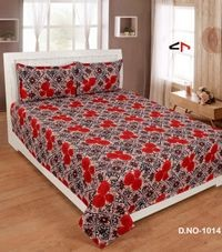 Komfort Creations 104 Tc Microfibre Printed Double Bed Sheets With Two Pillow Covers  (Kcss89)