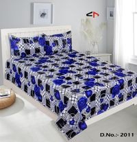 Komfort Creations 104 Tc Microfibre Printed Double Bed Sheets With Two Pillow Covers  (Kcss75)