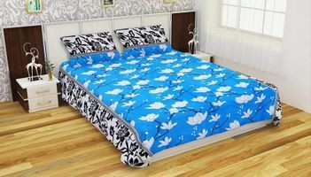 Komfort Creations 104 Tc Microfibre Printed Double Bed Sheets With Two Pillow Covers  (Kcss94)