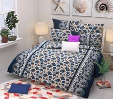Komfort Creations 104 Tc Microfibre Printed Double Bed Sheets With Two Pillow Covers  (Kcss80)