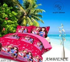 Komfort Creations 104 Tc Microfibre Printed Double Bed Sheets With Two Pillow Covers  (Kcss85)