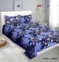 Komfort Creations 104 Tc Microfibre Printed Double Bed Sheets With Two Pillow Covers  (Kcss74)