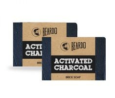 Beardo Activated Charcoal Brick Soap - 125G (Set Of 2)