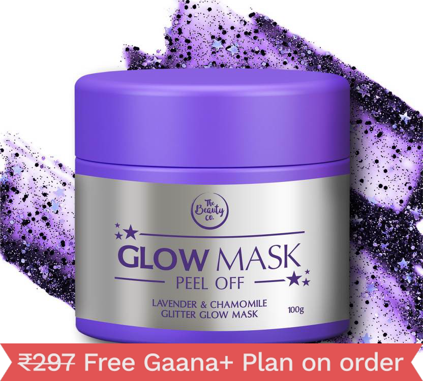 The Beauty Co. Lavender And Chamomile Glitter Glow Mask For Beautiful Skin (100 G)