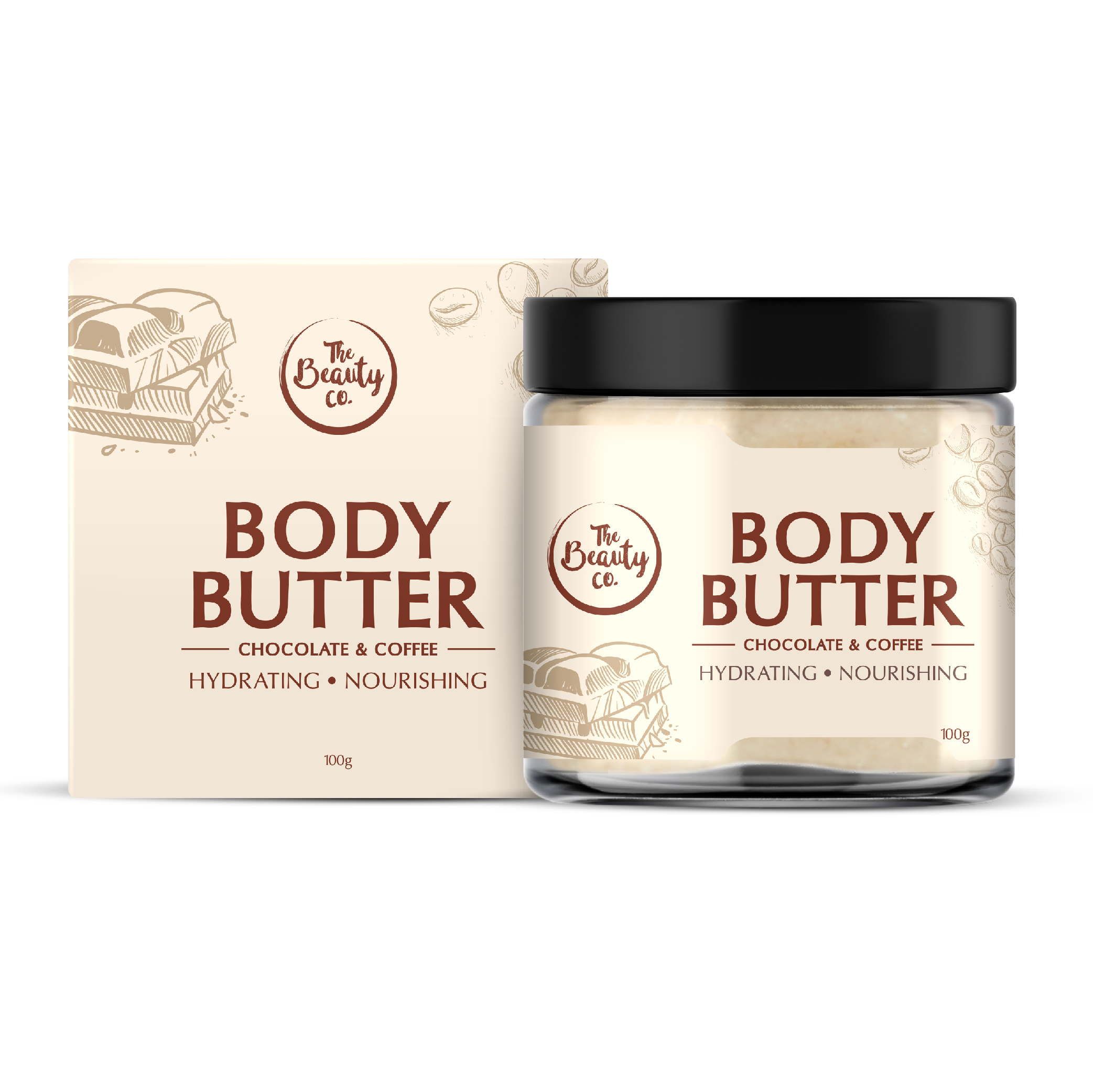 The Beauty Co. Chocolate Coffee Body Butter 100 Gm