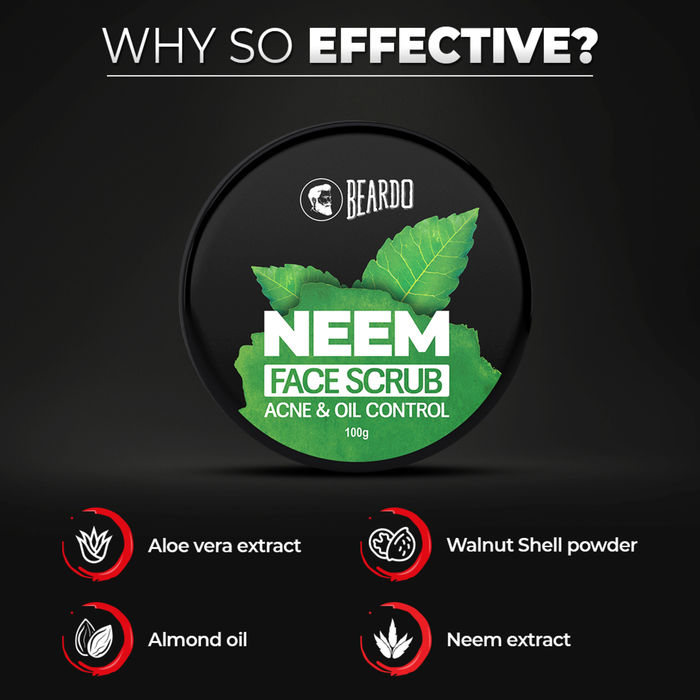 Beardo Neem Face Scrub 100 gm