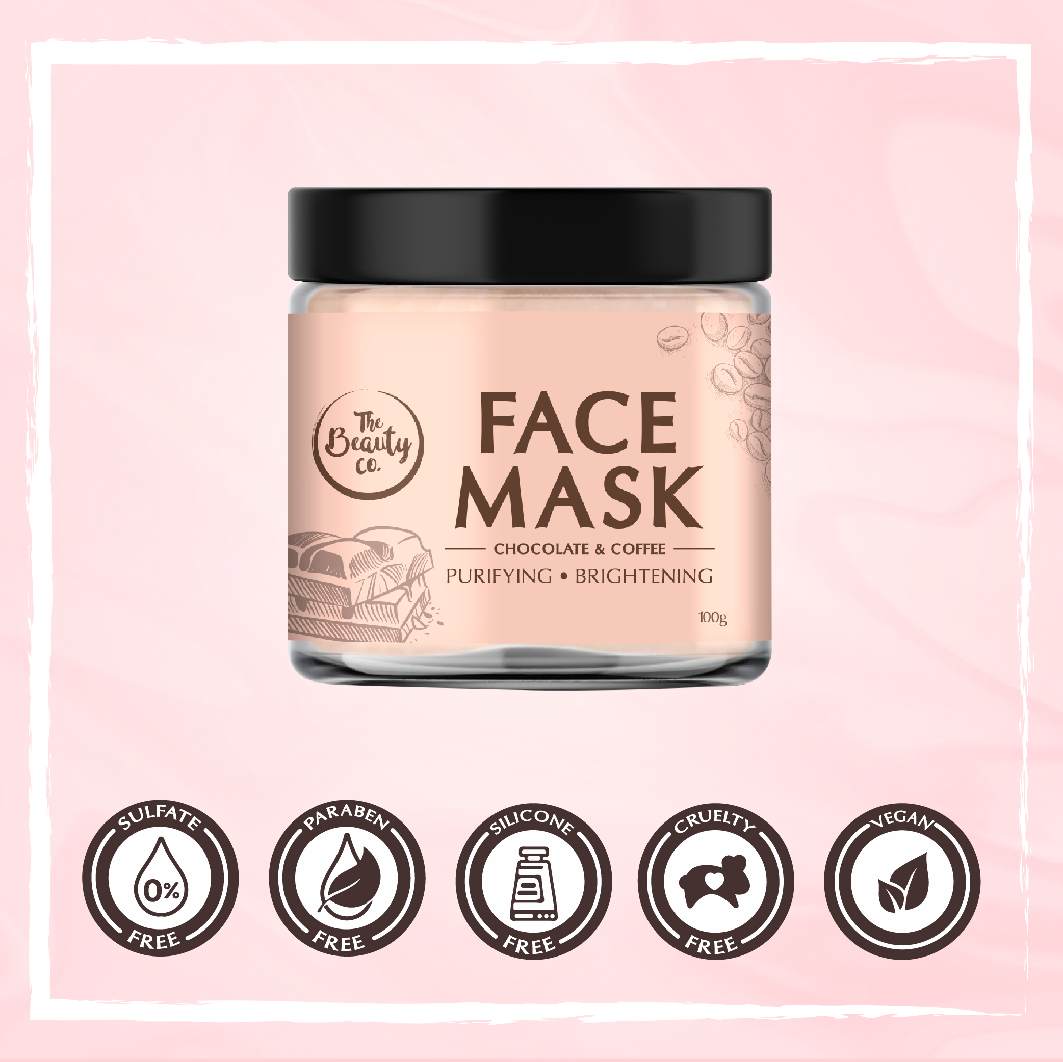 The Beauty Co. Chocolate Coffee Face Mask 100Gm