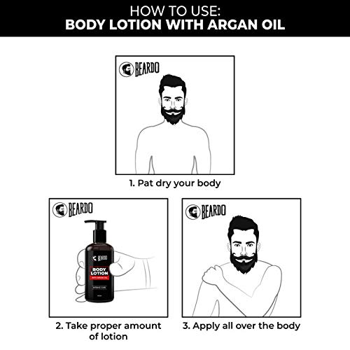 Beardo Body Lotion With Argan Oil For Intense Care- 300 Ml