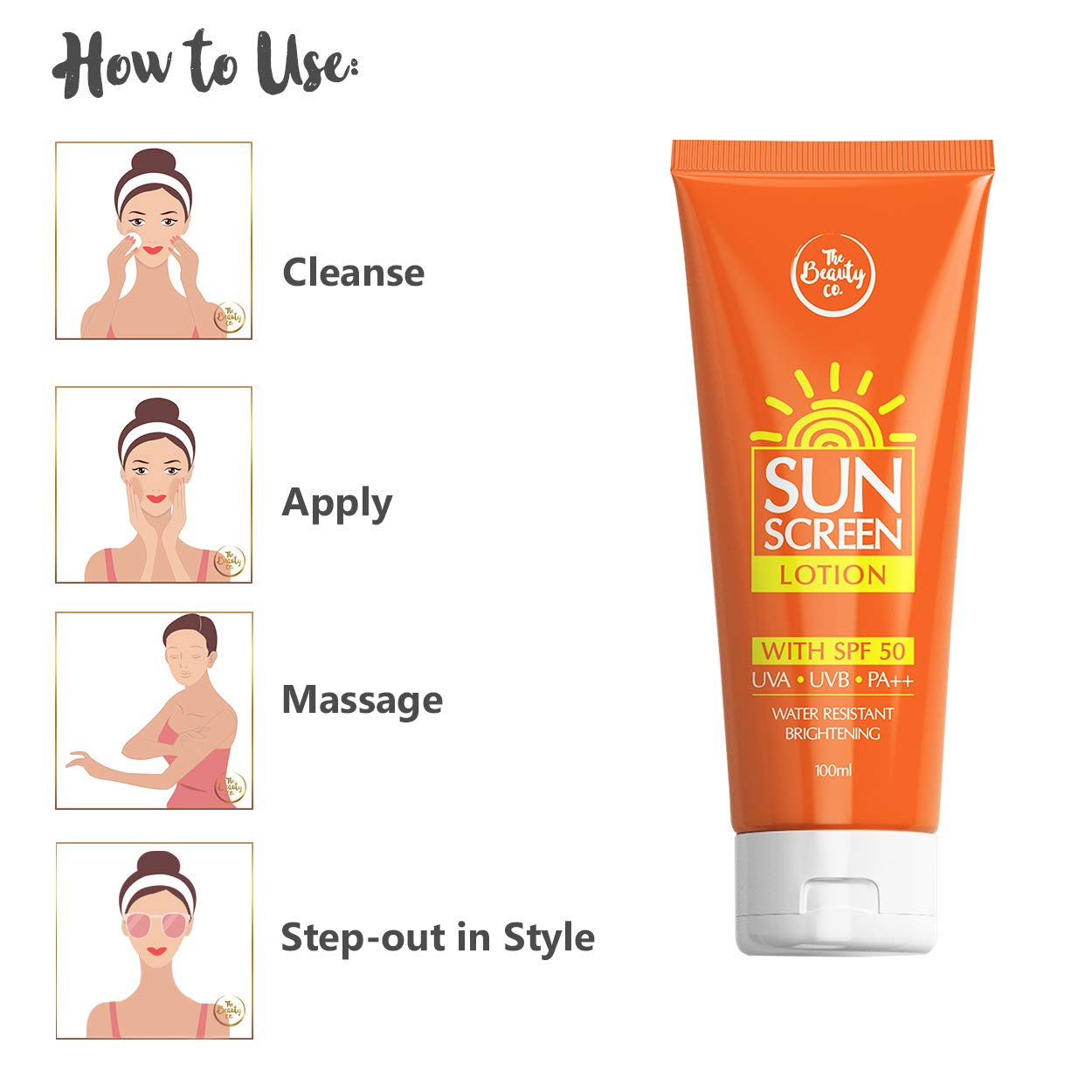 The Beauty Co. Sun Screen Lotion Spf 50 (100 Ml)