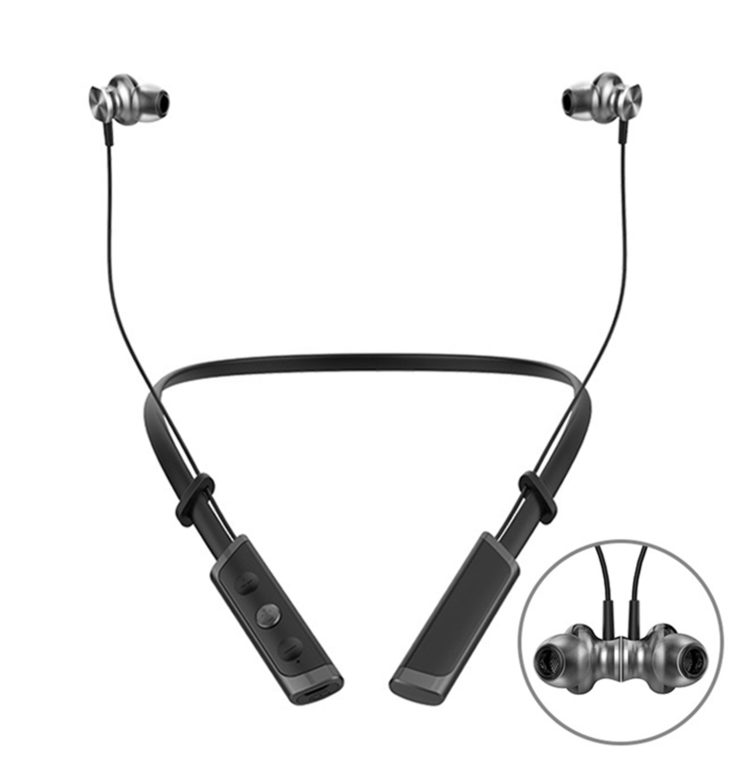 Jogger Y14 Magnetic Foldable Wireless Bluetooth Jogger Earphone with 3D Stereo Noice Cancel and Microphone